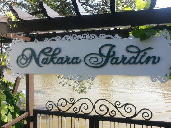 Nakara Jardin: Sign over the River