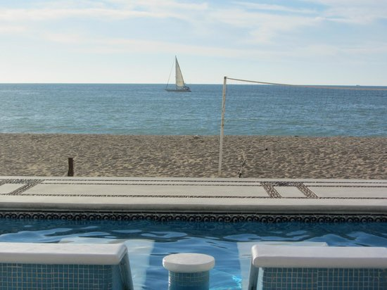 Buenaventura Grand Hotel & Great Moments All Inclusive:                   View from quiet adult pool area