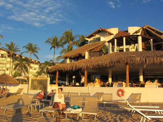 Buenaventura Grand Hotel & Great Moments All Inclusive:                   From the beach looking into Lunch restaurant and a la carte Dinner restaurant