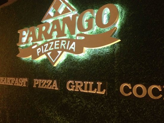 Farango Pizzeria : They refurbished lately, the name mens Foreigner in Thai with an extra O to make it italian!