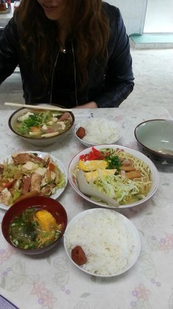 Chibana Shokudo: そば大 みそ汁 チャンプルー