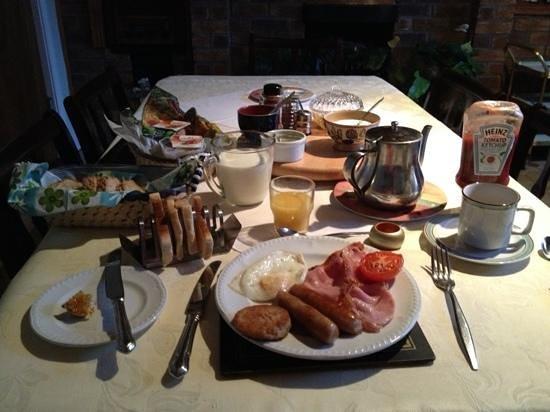 Rockville House B&B:                   breakfast for one!!                 