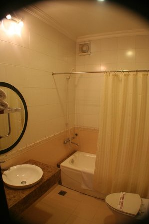 Hanoi City Palace Hotel:                   Bathroom of the Delux twin room