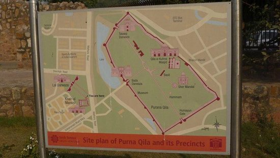 Purana Qila area map