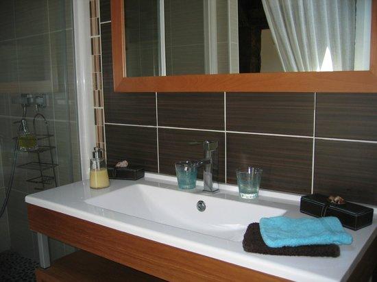 Domaine de Millox : salle de douche MOUTOUCHI