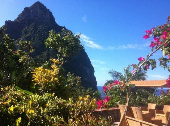 Stonefield Villa Resort: vue de la piscine du restaurant