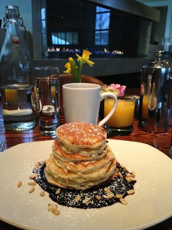 Solage Calistoga: The best Lemon-Ricotta pancakes ever