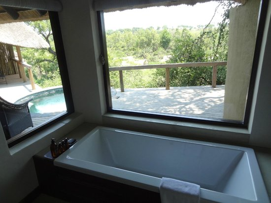 Londolozi Private Game Reserve:                   Jacuzzi in room