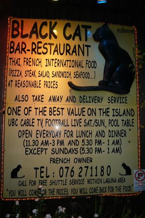 Black Cat: Outdoor Sign