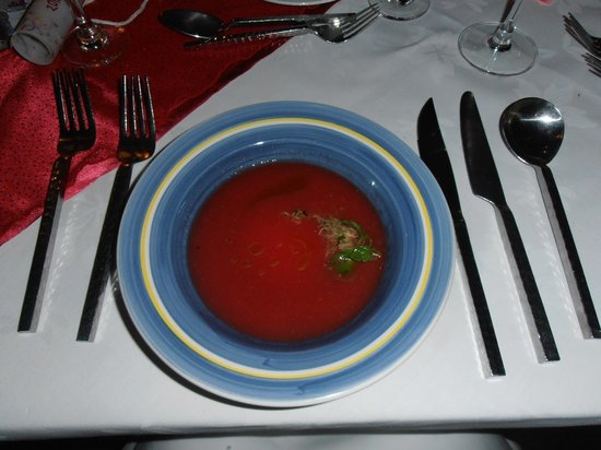 ... : NEW YEARS EVE - Thai Spiced Chill Watermelon Soup w.Basil Crabmeat