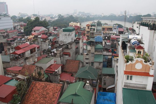 Hanoi Tirant Hotel:                   View from the terrace
