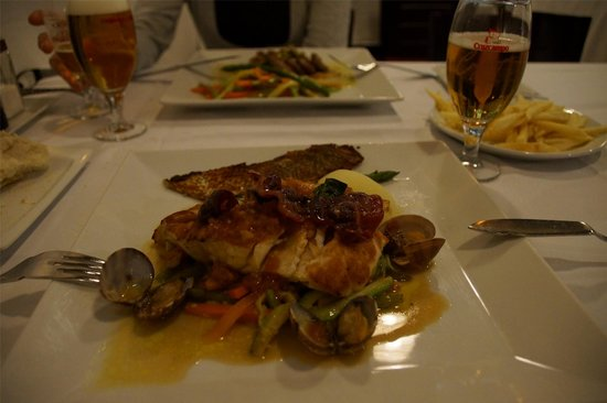 Humus: Cherne... local fish.