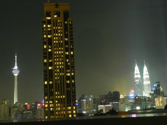 Furama Bukit Bintang:                   Taken from the 27th floor KL night sky