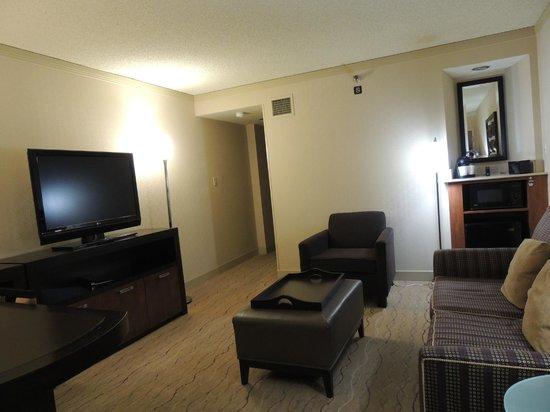 Embassy Suites by Hilton Hotel Santa Clara:                   Suite lounge area
