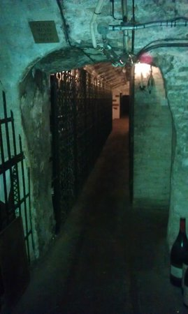 The Stafford London: Walkway through the cellar I