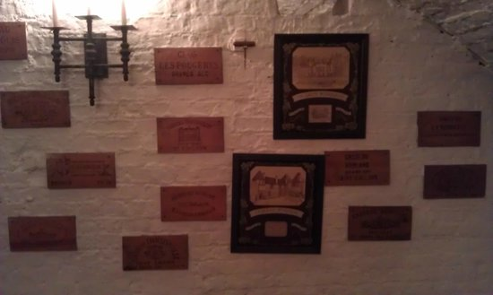 The Stafford London: Cellar wall