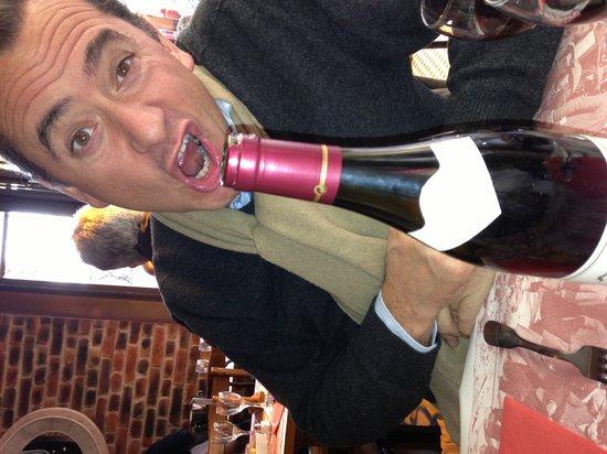 Hotel de Orangerie:                   Lekker flesje wijn