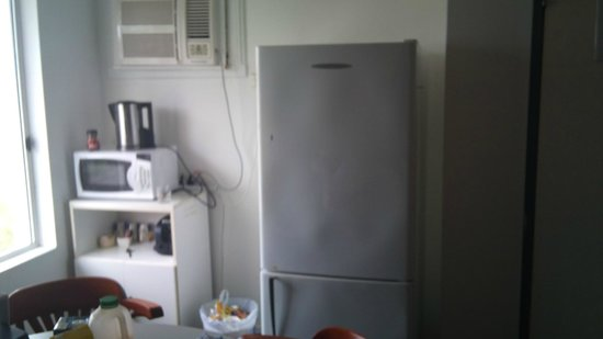 Sunshine Beach Resort:                   kitchenette, not like photo on web, inside fridge filthy