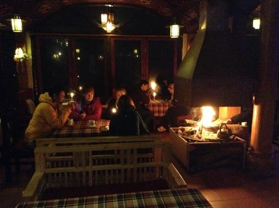 Nature Bar & Grill Restaurant:                   The warmest place during wintertime in Sapa