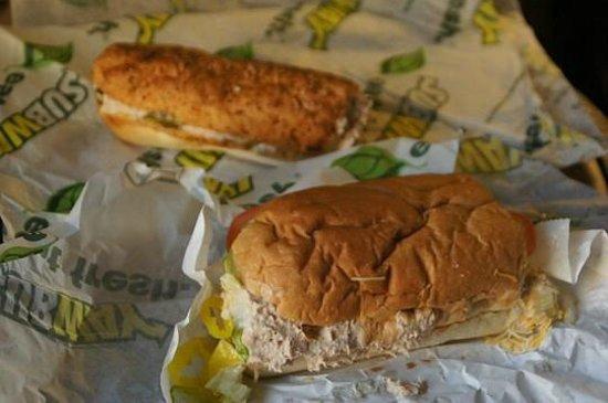 Subway: Tuna Sandwiches