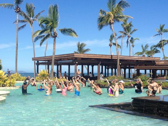 Sheraton Fiji Resort:                   Aqua Aerobics in the pool