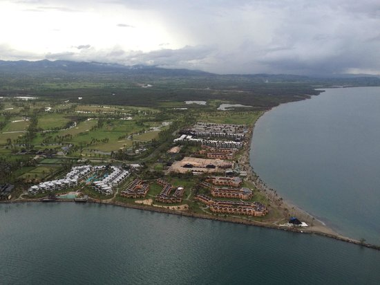 Sheraton Fiji Resort:                   View of the Resort from a helicopter