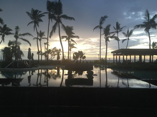 Sheraton Fiji Resort:                   Sunset over the pool