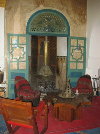 Riad Moucharabieh:                   One of the dining areas
