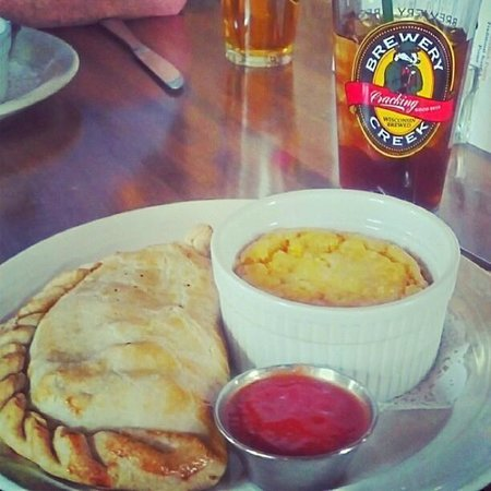 Brewery Creek Brewpub:                   Pasty with Corn Pudding