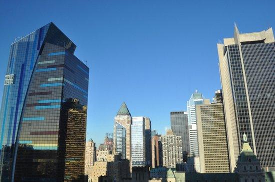 Hilton Times Square: vue depuis la chambre
