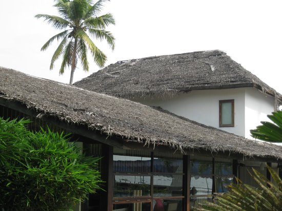 The Park on Vembanad Lake:                   Partof the roof started to come away