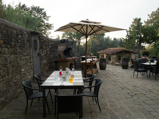 Osteria del Milione: Views of the patio