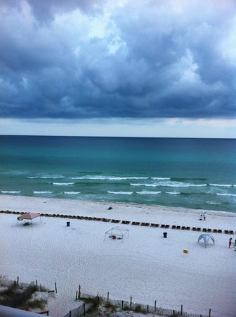 Majestic Beach Towers:                   View of a small thunderstorm from tower II #503