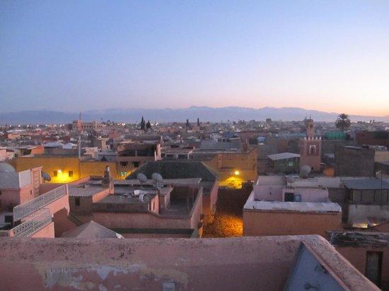 Ryad El Borj: Vue de la terrasse