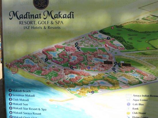 Steigenberger Makadi Hotel:                   Map of lower Makadi resort area