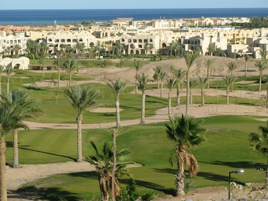 Steigenberger Makadi Hotel :                   Par 3 Golf course and view towards Makadi Bay and complex