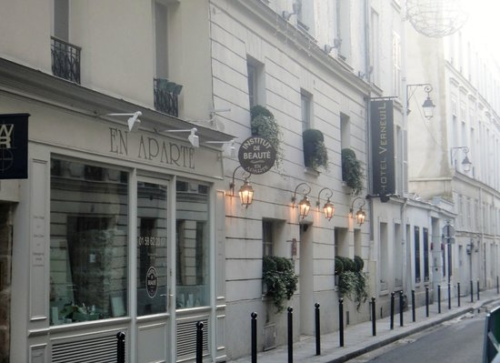 Hotel Verneuil:                   Hidden on a quaint and quiet residential street in St. Germain