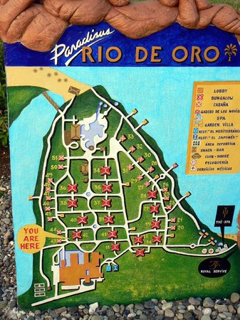 Paradisus Rio de Oro Resort & Spa:                   План отеля                 
