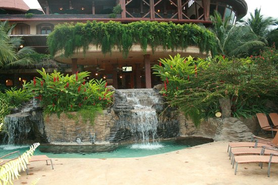 The Springs Resort and Spa:                   A pool waterfall.