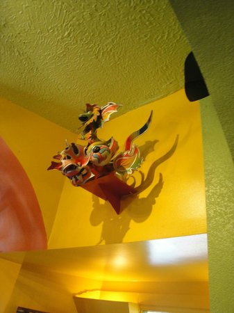 Cultural Art Piece Hanging on Restaurant Wall ~ Colorful Paper Mache ...