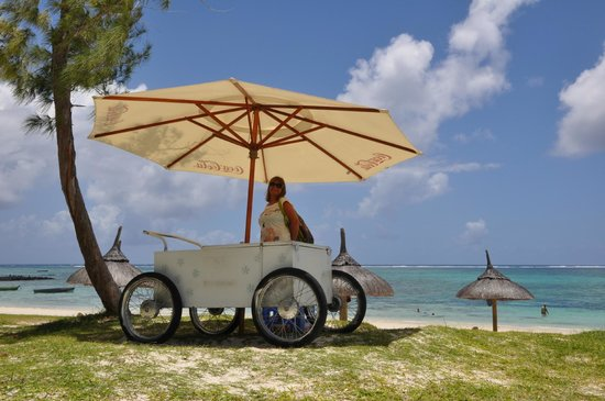 Emeraude Beach Attitude:                   The new beach attendant