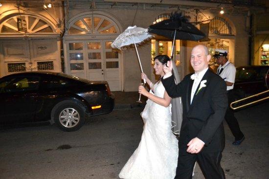 Omni Royal Orleans:                   Parade starting and ending at hotel