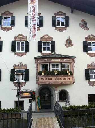 Gasthof Eggerwirt:                   thr front from the street