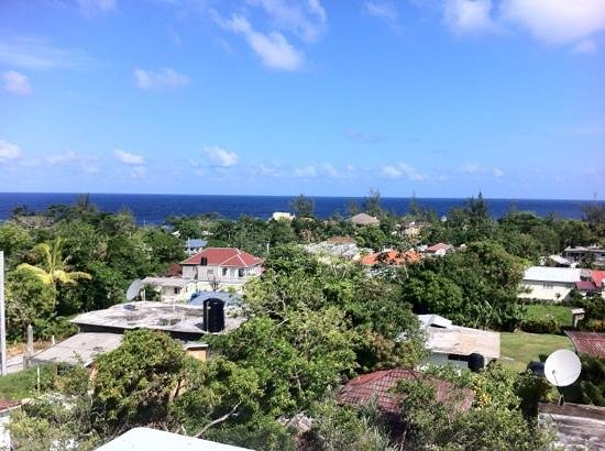 Match Resort Hotel:                   view of the ocean from the roof of match resort