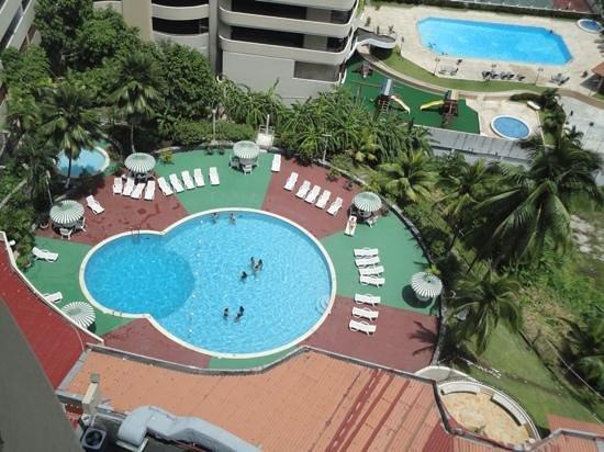 Plaza Paitilla Inn: Toma del piso 15 hacia la piscina del hotel