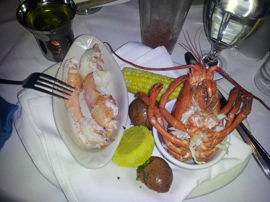 Lobster dinner at atlantic fish picture of atlantic fish for Atlantic fish boston
