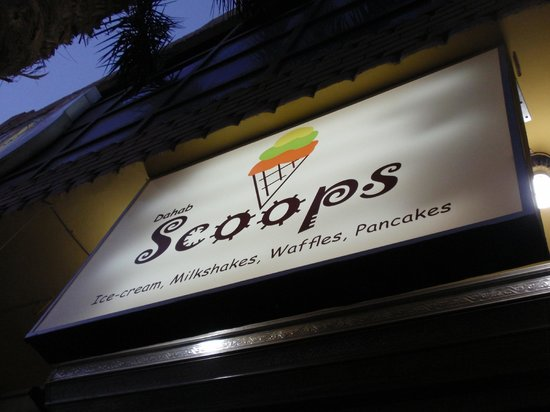 Scoops sign