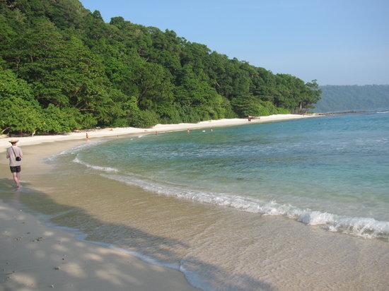 Radhanagar Beach:                   magical waves