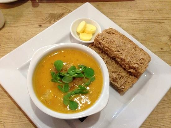 Number 9:                   Sweet potato and butternut squash soup