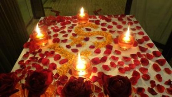 Rose petals decoration Picture of Green Point Cafe Dhaka City